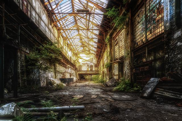 Hall, Factory, Abandoned, Ruin, Pforphoto, Atmosphere