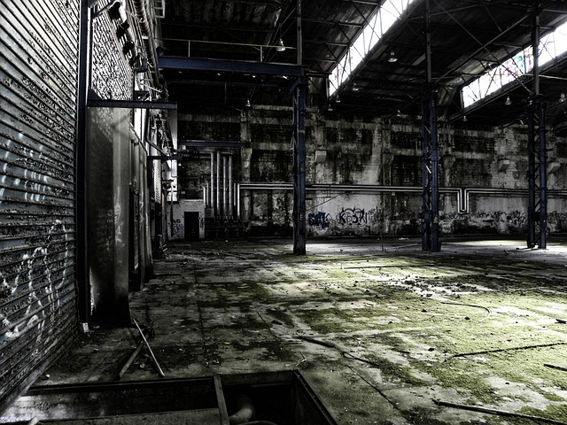 Factory, Hall, Old, Leave, Run Down, Cologne, Deutz Ag