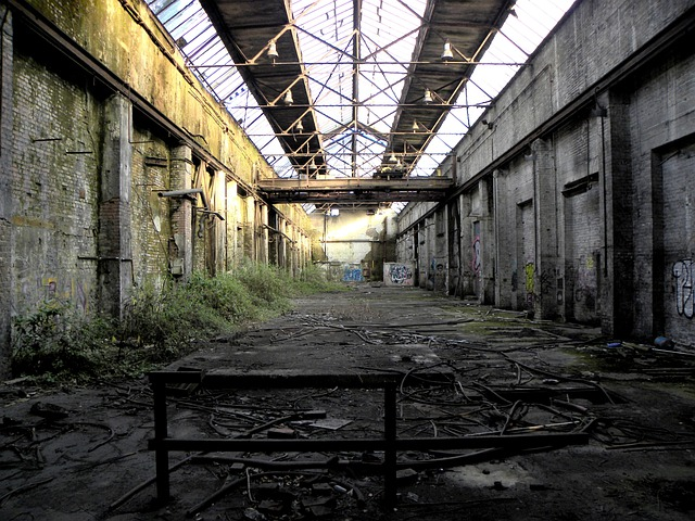 Factory Building, Factory, Hall, Old, Decay, Industry