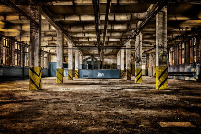 Factory Building, Hall, Factory, Factory Site