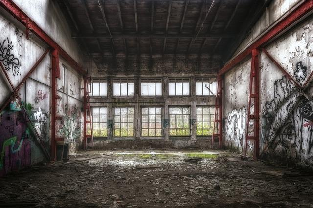 Pforphoto, Lost Places, Space, Hall, Window, Grid