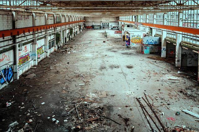 Lost Places, Factory, Hall, Space, Building, Pforphoto