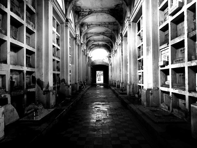 Cemetery, Path, Hall, Horror, Terror, Fear, Tomb