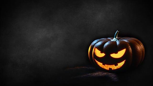 Halloween, Pumpkin, Dark, Background, Creepy, Fash