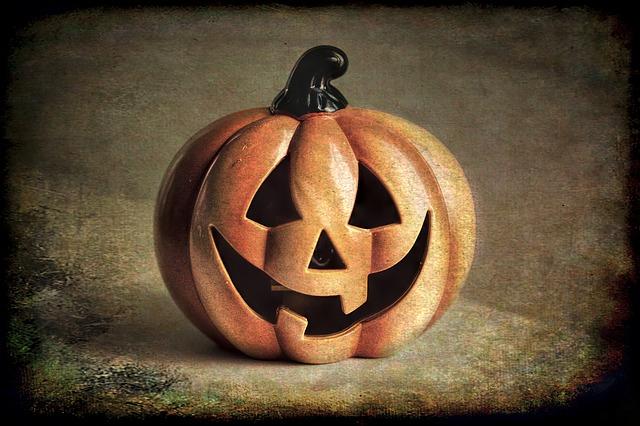 Jack-o-lantern, Pumpkin, Halloween, Grunge