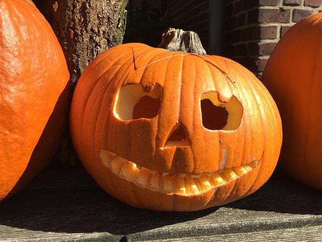 Pumpkin, Halloween, Ghosts, Autumn, Orange, Vegetables