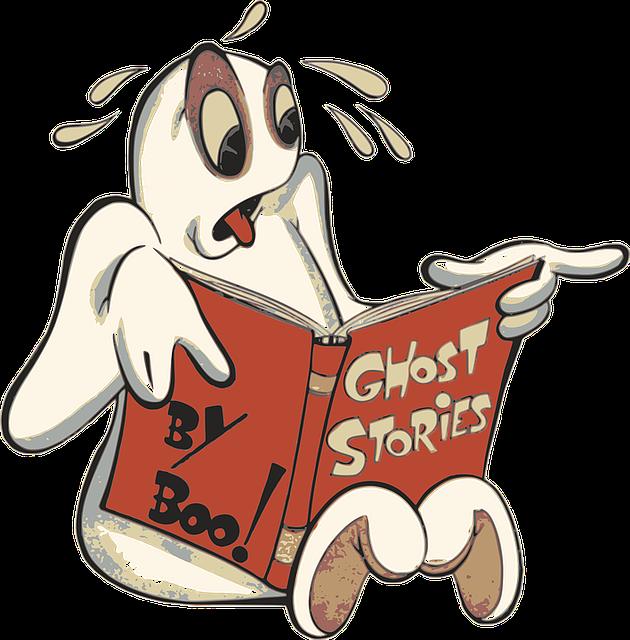 Boo, Cartoon, Ghost, Halloween, Phantom, Reading