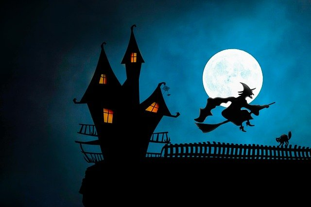 Halloween, Witch's House, The Witch, Broomstick, Cat