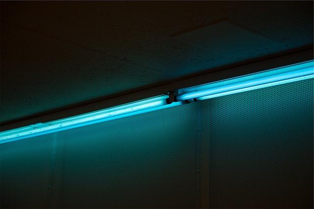 Led, Lights, Hallway, Dark