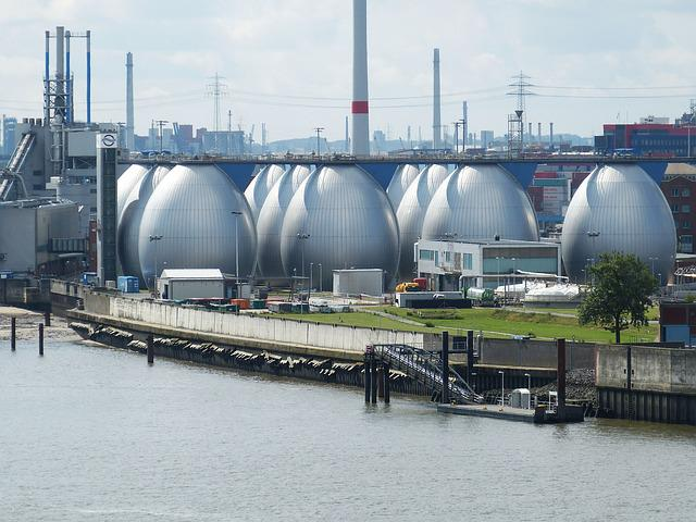 Hamburg, Altona, Port, Egg, Sewage Plant, Factory