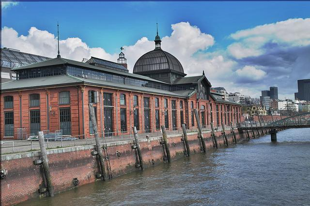 Port, Hamburg, Fish Market