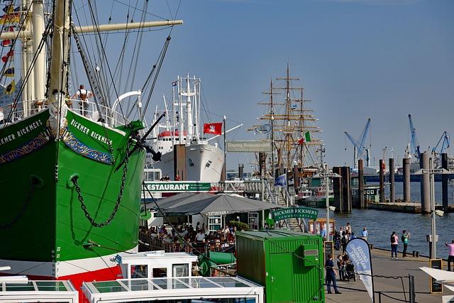 Hamburg, Port Of Hamburg, Elbe, Maritime, Shipping