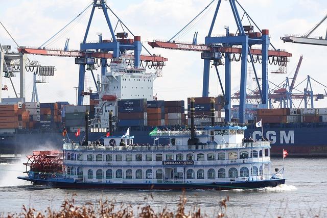 Ship, Port, Waters, Pier, Hamburg, Hamburgensien