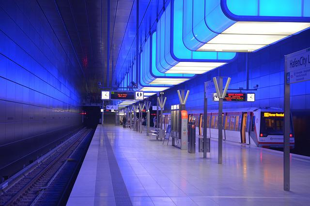 Hamburg, Harbour City, Subway Station
