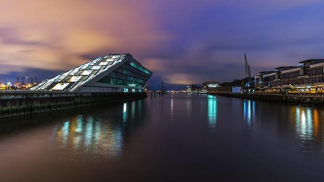 Waters, River, Bridge, Travel, Reflection, Hamburg