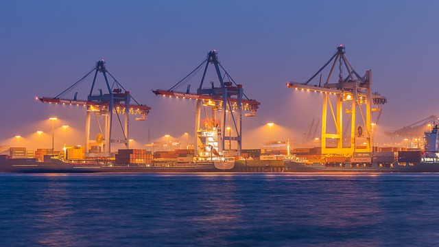 Waters, Port, Transport System, Ship, Sea, Hamburg