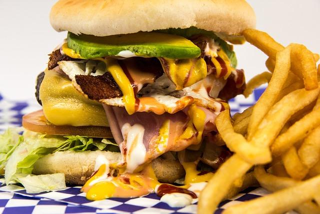 Hamburger, Foot, Burger, Cholesterol, Menu, Fried