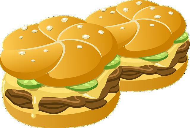 Burgers, Fast Food, Food, Meal, Hamburgers