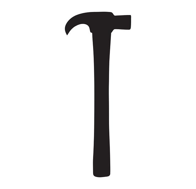 Hammer, Black, Silhouette, Design, Repair, Equipment