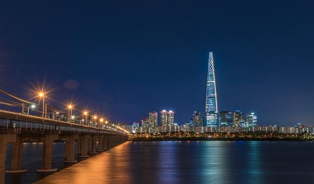 Korea, Republic Of Korea, Han River, Jamsil, Tower