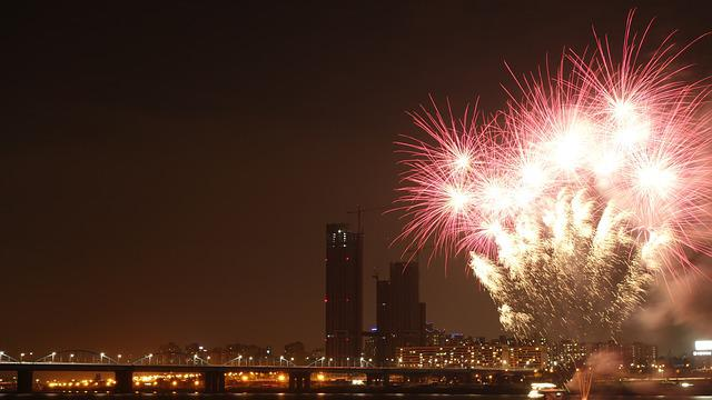 Fireworks, Night View, Festival, Seoul, Han River