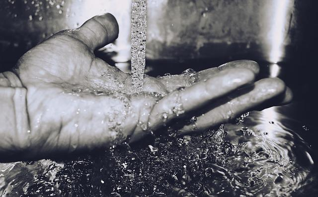 Close-up, Hand, Water