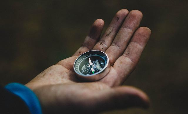 Compass, Hand, Travel, Direction, Hiking, The Way