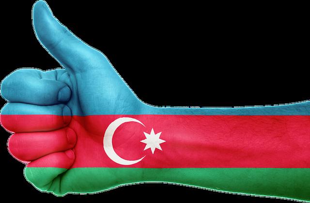 Azerbaijan, Flag, Hand, National, Fingers, Patriotic