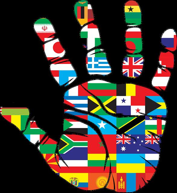 Flags, Hand, World, Handprint, Nations, Love