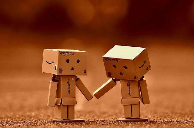 Danbo, Fig, Together, Hand In Hand, Love, Togetherness