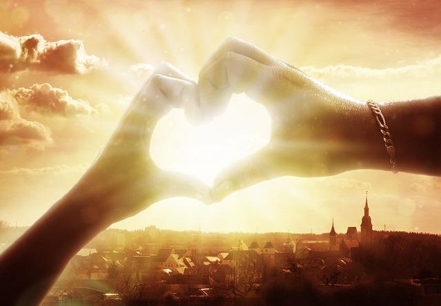 Hand, Heart, Love, Affection, Sunset, Sky, Nature