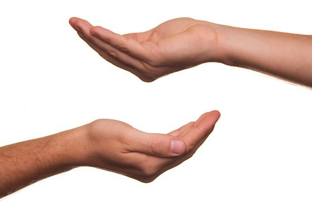 Offering, Hand, Handful Of, Help, Hand Over, Give, View