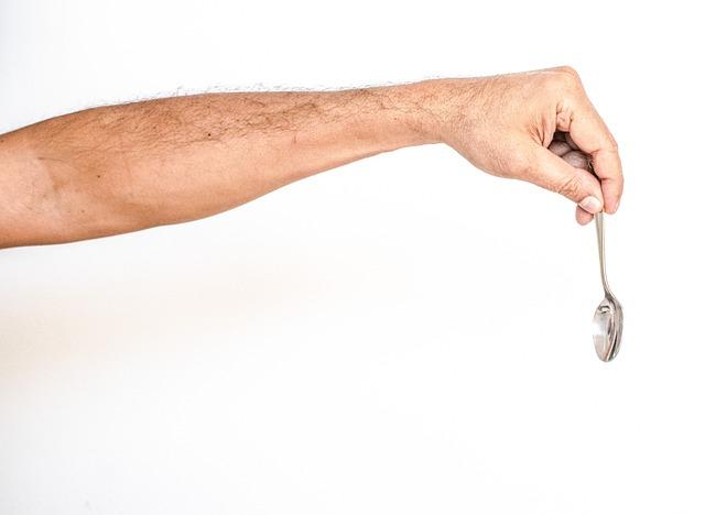 White Background, Hand, White, Spoon, Man, Arm