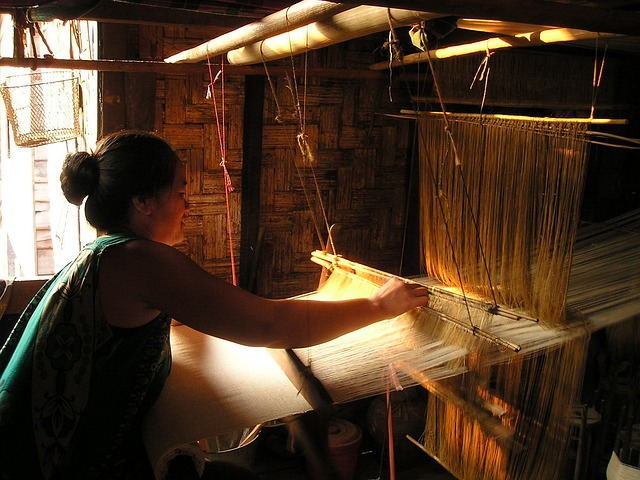 Laos, Loom, Weave, Hand Labor, Hand, Work, Southeast