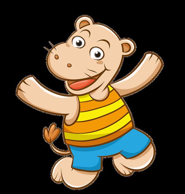 Cartoon, Hand-painted, Hippo