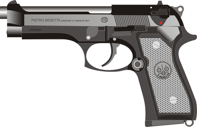 Beretta, Pistol, Gun, Handgun, Weapon, Firearm, Graphic