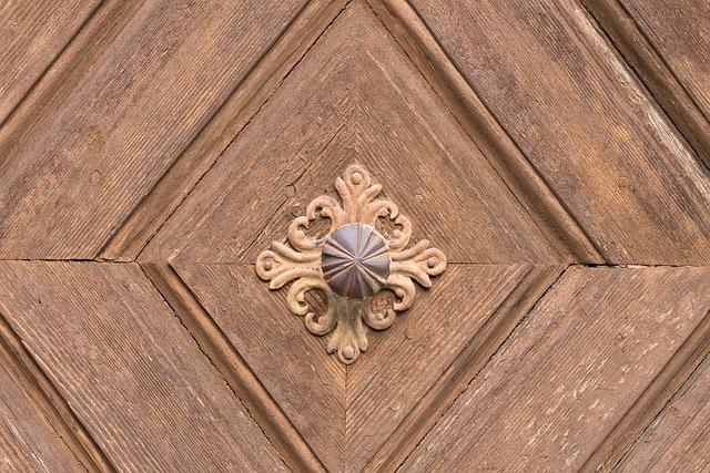 Door, Door Handle, Input, Old, Wood, Handle, Metal