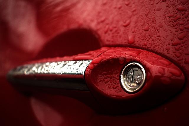 Handle, Hyundai, Auto, Rainy Day
