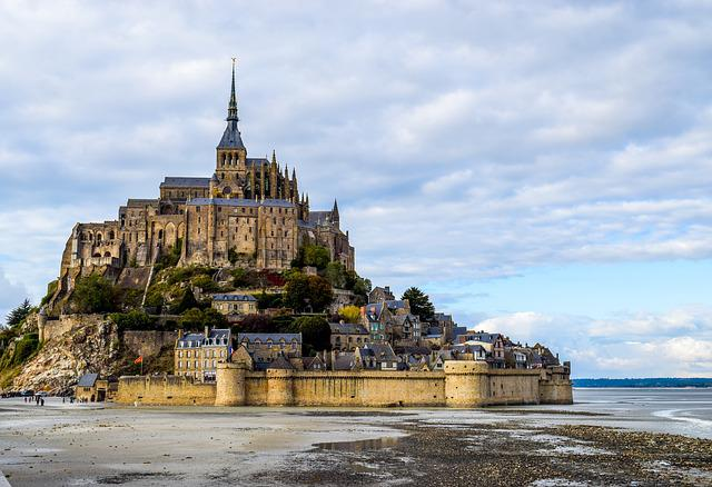 Mont Saint Michel, Abbey, Saint Michel, Island, Handle