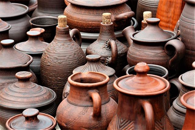 Handmade, Clay Pot, Pitcher, Tableware