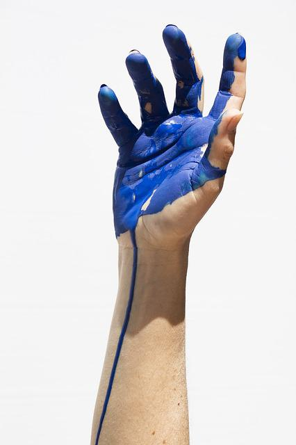 Color, Blue, Painting, Hands