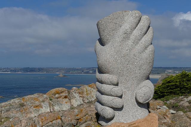 Coast, Monument, Hand, Hands, Atlantic, Jersey