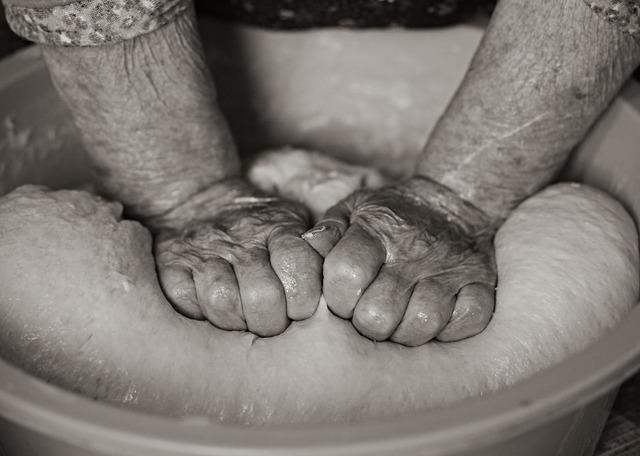 Hands, Grandma, Coca, Knead, Cake, Preparation