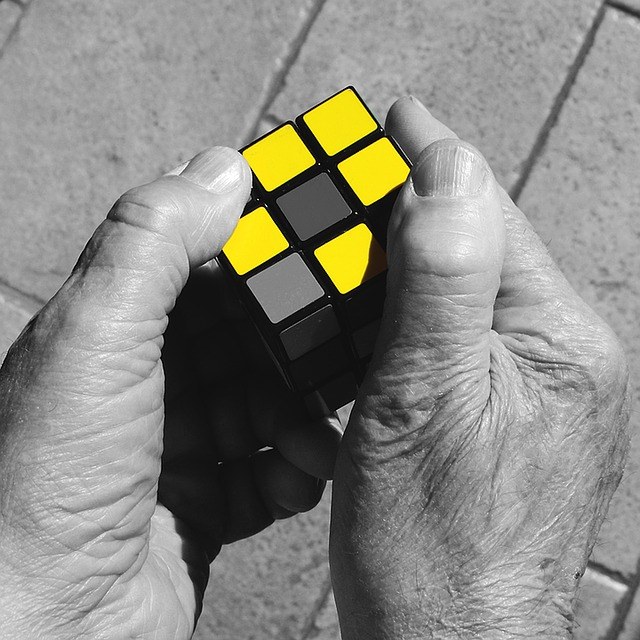 Rubik's Cube, Hands, Yellow, Nostalgia, Cube, Game