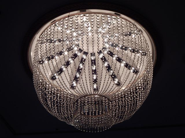Chandelier, Lighting, Lamp, Hanging, Crystal, Antique