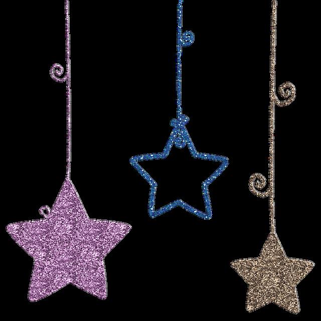 Hanging Stars, Stars, Swirls, Gold Foil, Cardstock