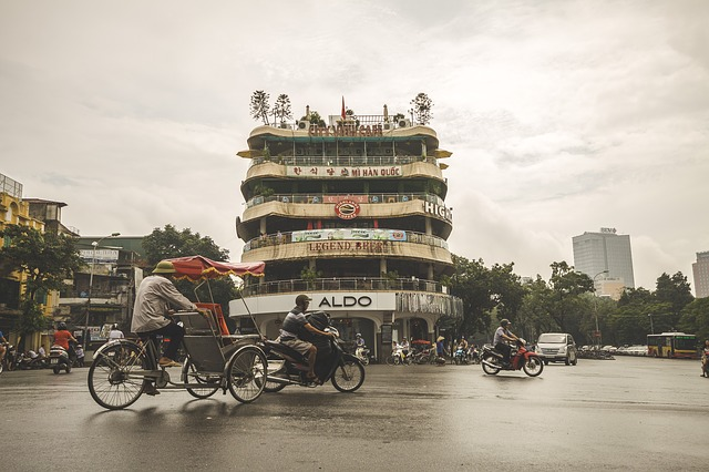 Street, Hanoi, Vietnam, Asia, City, Asian, Building