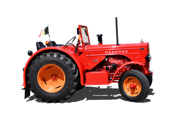 Tractor, Hanomag, Isolated, Old, Old Tractor, Nostalgia