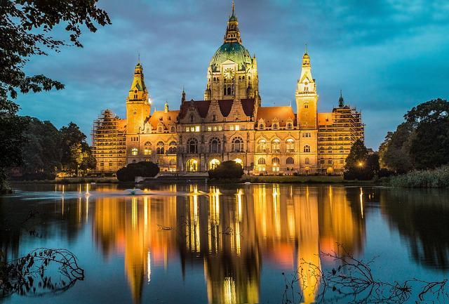 Hanover, Town Hall, Lake, Architecture