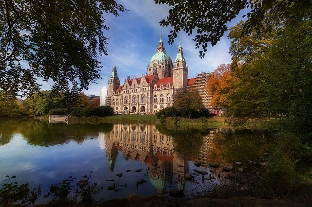New Town Hall, Hanover, Water, Lower Saxony